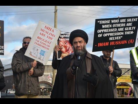 [Moulana Raza Rizvi] Toronto Protest at Pakistani Consulate against Shia Killings in Pakistan Nov 2016 - Urdu