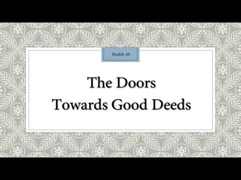 The doors towards good deeds - English