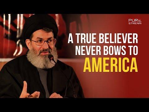 A True Believer NEVER bows to #America | Sayyid Hashim al-Haidari | Arabic sub English