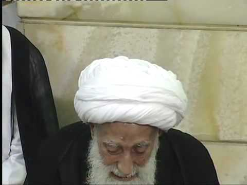 زيارة  الشيخ التبريزي لحرم السيدة رقية (ع)  ومجلس للشيخ حيدر المولى