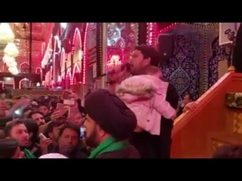 Farhan Ali Waris   Live Nauhakhwani In Karbala, Iraq - Urdu