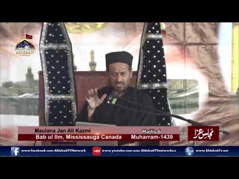 Maulana Jan Ali Shah Kazmi - 6th of Muharram, 2017 Majlis at Bab ul Ilm, Mississauga - Urdu