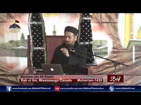 Maulana Jan Ali Shah Kazmi - 5th of Muharram, 2017 Majlis at Bab ul Ilm, Mississauga - Urdu