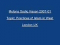Sadiq Hasan Practices of Islam in West 2007 01 - Urdu