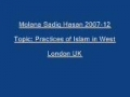 Sadiq Hasan Practices of Islam in West 2007 12 - Urdu