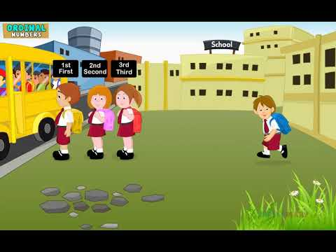 [Educational Videos] Ordinial Numbers Class KG-English