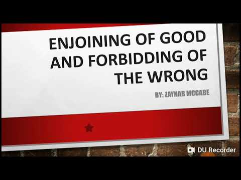 Enjoying good and forbidding evil  - English