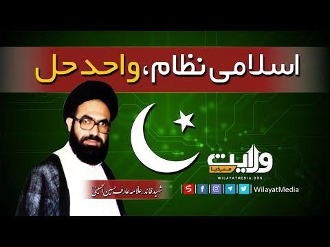 اسلامی نظام، واحد حل   شہید قائد، علّامہ عارف الحسینیؒ   Urdu