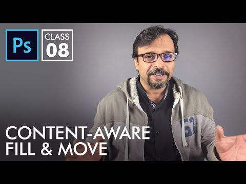 Content Aware Fill & Move Tool - Adobe Photoshop for Beginners - Class 8 | Urdu Hindi