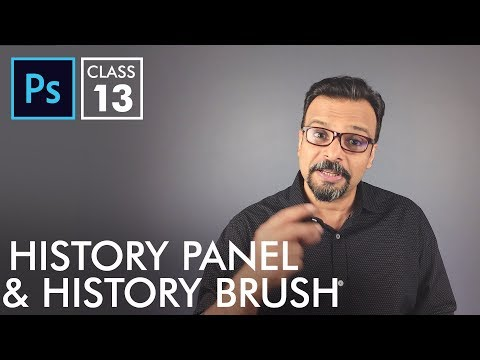 History Panel and History Brush - Adobe Photoshop for Beginners - Class 13 - Urdu / Hindi
