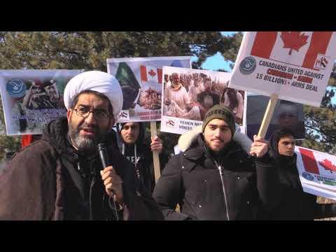 Ottawa Mark 4th year of Saudi war on Yemen: Sheikh Shafiq Huda Speech at Saudi Embassy Ottawa -English