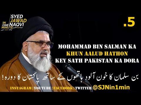 [Clip]  SJNin1Min 5 - MBS with Blood on His Hands to Visit Pakistan - Urdu