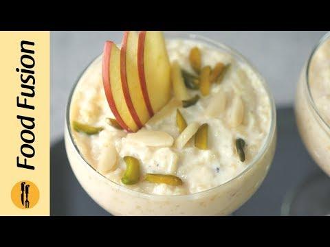 [Quick Recipe] Apple Custard Kheer (Ramzan Special Recipe) - English
