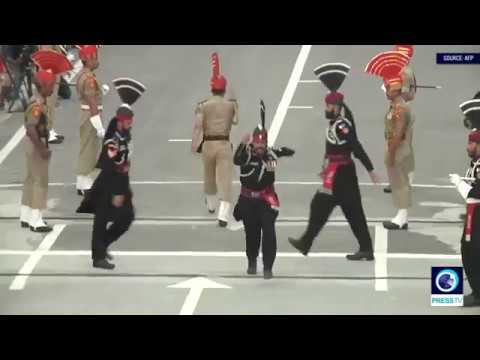 [14 August 2019] Closing ceremony at Pakistan-India border on Independence Day amid tensions over Kashmir - English