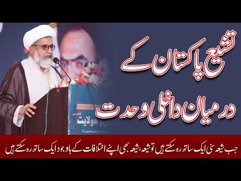 Tashio e Pakistan K Darmiyaan Dakhili Wahdat | Allama Raja Nasir Abbas Jafri | Urdu
