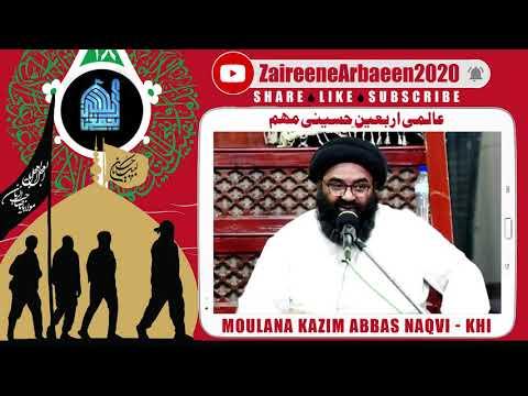 Clip   Moulana Kazim Abbas   Arbaeen Se Yazidiat KI Naboodi   Aalami Zaireene Arbaeen 2020