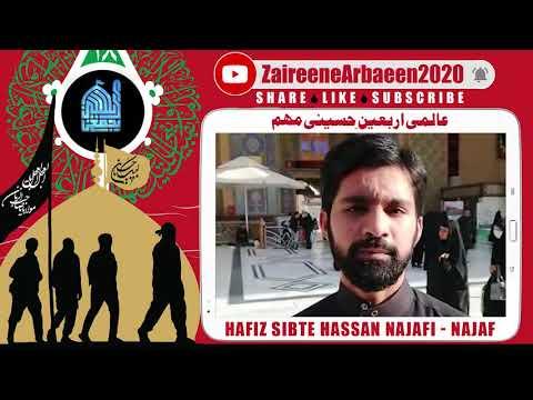 Clip   Hafiz Sibte Hassan Najafi   Aalami Zaireene Arbaeen 2020 - Urdu