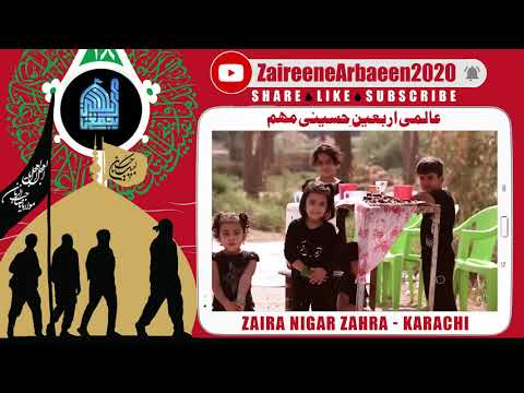Clip   Aalami Zaireene Arbaeen 2020   Zaira Nigar Zahra   Arbaeen Na Qabile Bayan Manzar