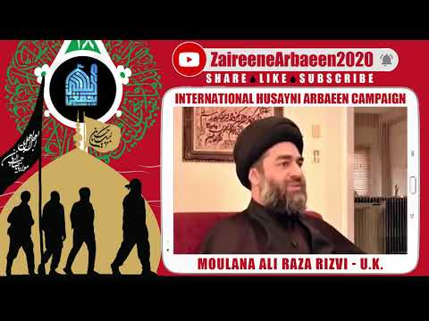 Clip   Aalami Zaireene Arbaeen 2020   Moulana Ali Raza Rizvi   Why Arbaeen Is Important? - English