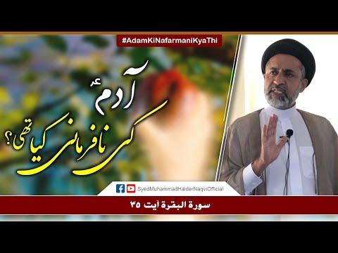 Adam (a.s) Ki Nafarmani Kya Thi? || Ayaat-un-Bayyinaat || Hafiz Syed Muhammad Haider Naqvi - Urdu