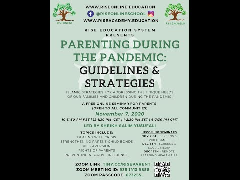 Parenting in the Pandemic: Guidelines and Strategies | Shaykh Salim Yusufali | Nov.07 2020 | English
