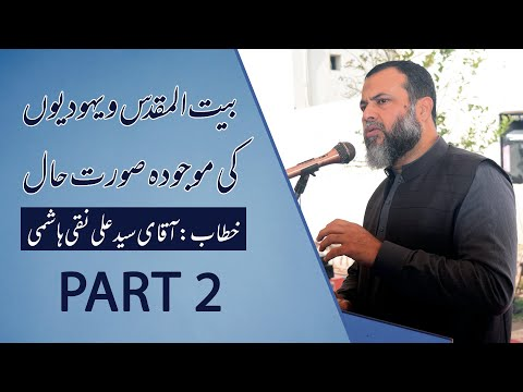 Discussion About Palestine & Israel Current Situation    Syed Ali Naqi Hashmi    Part 2 - Urdu