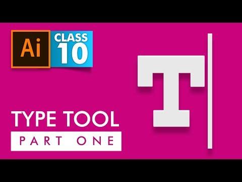Adobe Illustrator - Type Tool Part 1 - Class 10 - Urdu / Hindi