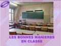Les manieres en classe - francais French