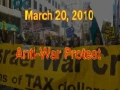 ANTI-WAR PROTEST against U.S. Occupations - 20 March 2010 - English