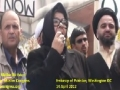 [11] Speech by Sr. Malika Baltistani - Protest @ Pakistan Embassy, Washington DC - 14Apr12 - Urdu