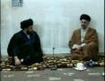 Meeting between Sayyed Abdul Aziz Al-Hakim and Sayyed Muqtada Al-Sadr - 2 of 4 - Arabic