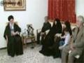 حضور رهبرانقلاب در منزل شهيد احمديروشن - Farsi