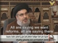 Sayyed Nasrallah Clarifies Hezbollah\'s Position towards Situation in Syria - 24-10-2011 - Arabic sub English