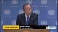 [09 Sept 2013] UN Secretary General called for creation of UN supervised zones in Syria - English