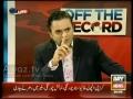 Dehshat Gard Islami Holiya (as makeup) iss liye istemal karte hein - Off The Record - Part 2/14 - Urdu