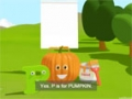 Learn about the Letter P and Paint a Pumpkin - The Alphabet Adventure With Alice And Shawn The Train - English