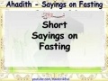 Sayings on Fasting  Month of Ramadhan English