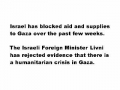 Israel Denies Gaza Humanitarian Crisis - Really??? 01Jan09 - English