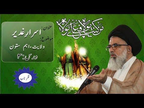 [Asrar-e-Ghadeer Dars 3] Topic: Wilayat ahm Sutoon By Ustad Syed Jawad Naqvi  2018 Urdu