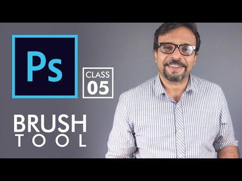 Brush Tool - Adobe Photoshop for Beginners - Class 5   Urdu Hindi