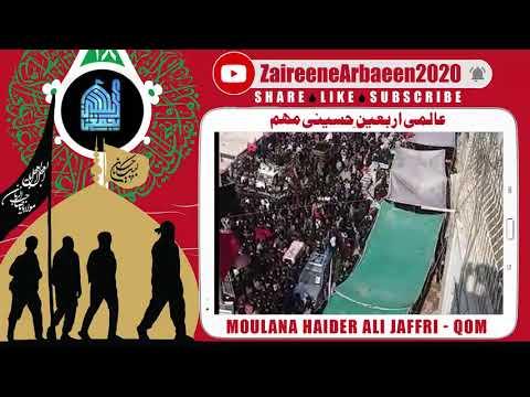 Clip | H.I. Haider Ali Jaffri | Julose Arbaeen - Yazidiat Ke Moun Per Tamacha | Aalami Arbaeen 2020 - Urdu