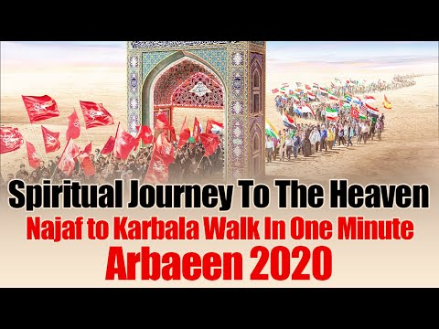 Spiritual Journey To The Heaven On Earth | Najaf to Karbala Walk In One Minute | Arbaeen 2020 - All Languages