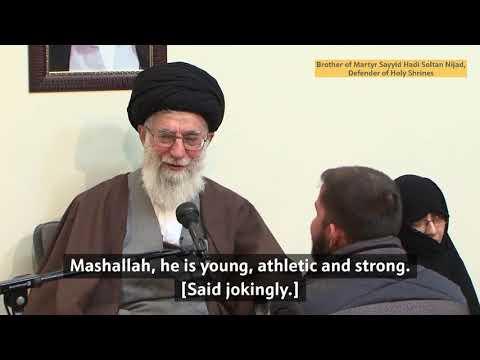 Eager to defend the Holy Shrines   Ayatollah Sayyid Ali Khamenei   Farsi subs Eng