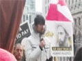 Spoken Word from the rally for the shaheed Sheikh Al-Nimr in downtown Toronto - Arabic Sub English